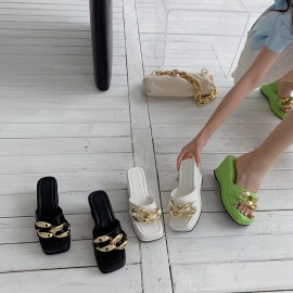 Summer New High-heeled Beach Shoes  NSHU61391