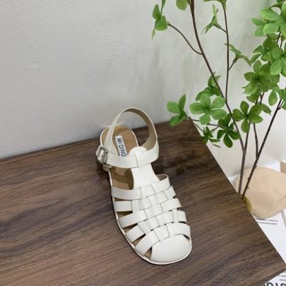 Retro Cross Straps Flat Sandals  NSHU61629