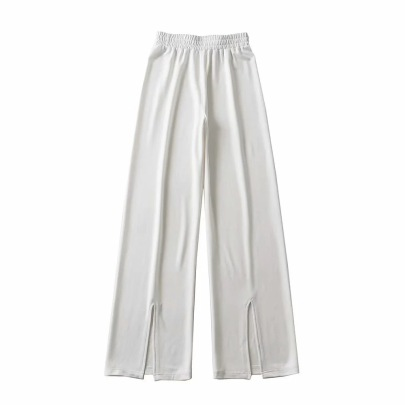 High-waist Loose-fitting Thin Mopping Trousers NSHS61773