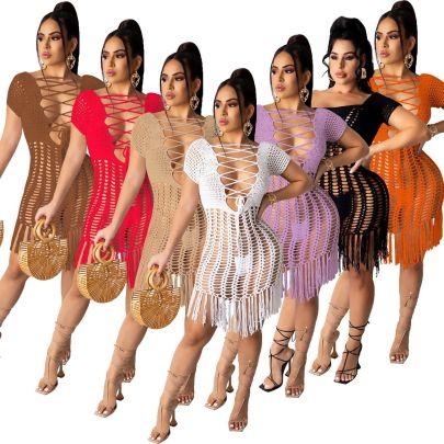 New Long Tassels Fashion Dress NSOSM65279