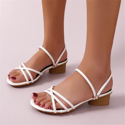 Summer Open-toed Two-wear Casual Roman Shoes NSZSC65391