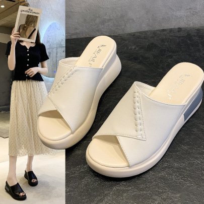 Summer New Style Open-toed Fashion One-line Sandals NSZSC65395
