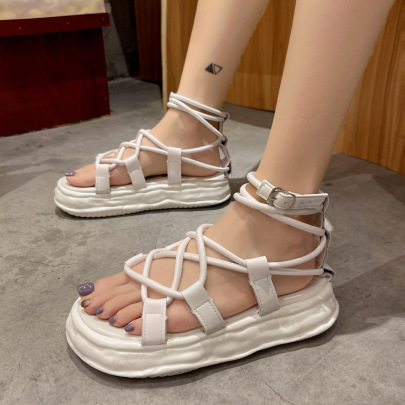 New Summer Open-toed Cross Straps Fashion Shoes NSZSC65410