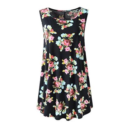 Wholesale Women's Clothing Nihaostyles Fashion Sleeveless Round Neck All-match Printed Dress NSXIA65662