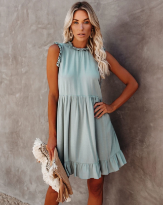 Wholesale Women's Clothing Nihaostyles Solid Color Ruched Dress NSOUY65651
