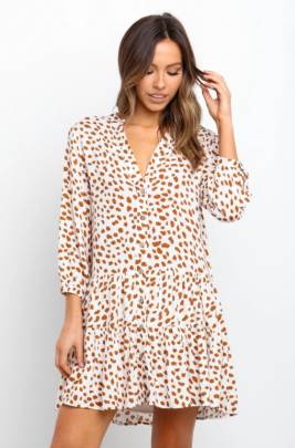Wholesale Women's Clothing Nihaostyles Summer Fashion V-neck Waist Casual Short-sleeved Dress NSOUY65645