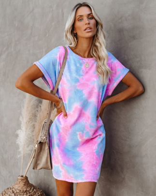 Wholesale Women's Clothing Nihaostyles Summer Hot Tie-dye Dress NSOUY65643