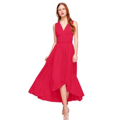 Wholesale Clothing Vendors Nihaostyles Methods Cross Front Short Back Long Backless Sexy Bandage Dress NSYSM67103