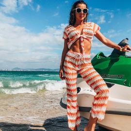 Wholesale Clothing Vendors Nihaostyles Mesh Split Beach Set NSGM67159