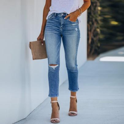 Wholesale Clothing Vendor Nihaostyles Retro Denim Trousers NSXMI67180