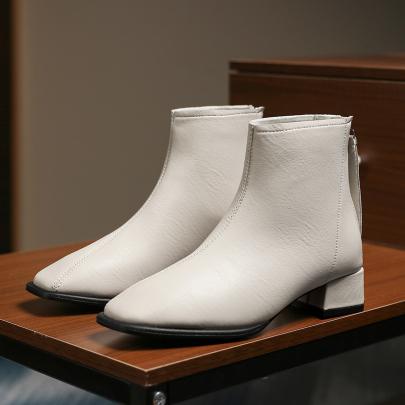 Nihaostyle Clothing Wholesale Women's Thick Heel Mid-heel Short Boots NSYUS67186