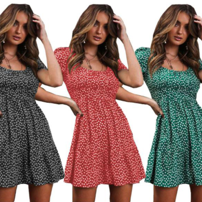 Nihaostyle Clothing Wholesale Women's New Style Floral Fashion Dress NSOUY67471