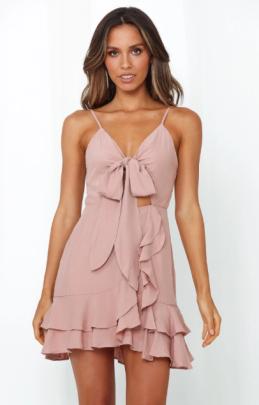 Nihaostyle Clothing Wholesale Sleeveless Sexy Slim V-neck Bow Tie Lace Dress NSOUY67470