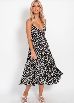 Nihaostyle Clothing Wholesale Summer Bohemian Sexy Sling Print Dress NSOUY67469