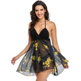 Wholesale Clothing Vendor Nihaostyles Knitted Chiffon Bikini  NSGM67195