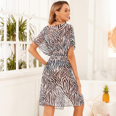 Wholesale Clothing Vendor Nihaostyles Printed Long Beach Cardigan NSGM67198