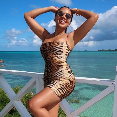 Nihaostyle Clothing Wholesale Women's New Leopard Print Sling Short Skirt NSHTL67309