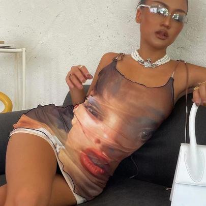Nihaostyle Clothing Wholesale New Summer Fashion Printing Slim Dress NSHTL67316