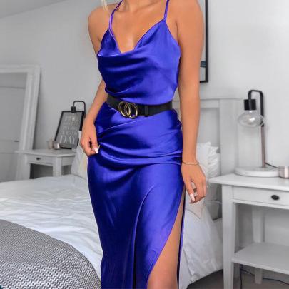 Nihaostyle Clothing Wholesale Women's New Fashion Sexy Sling Split Dress NSHTL67334