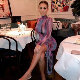 Nihaostyle Clothing Wholesale Sexy Women's Printed Dress NSHTL67342