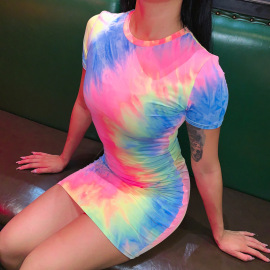 Nihaostyle Clothing Wholesale New Casual Tie-dye Dresses NSHTL67360