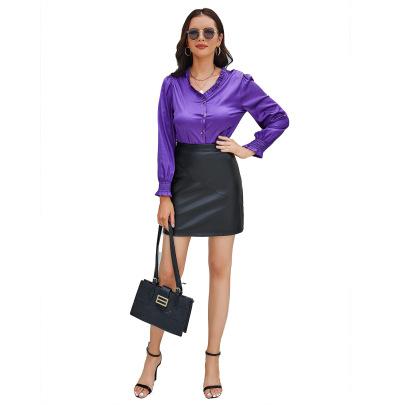 Wholesale Women's Clothing Nihaostyles PU Leather Stretch Skirt  NSNXH67390