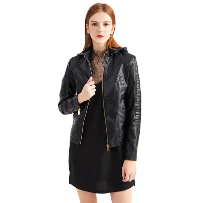 Wholesale Women's Clothing Nihaostyles Hooded Autumn And Winter Short Jacket NSNXH67392