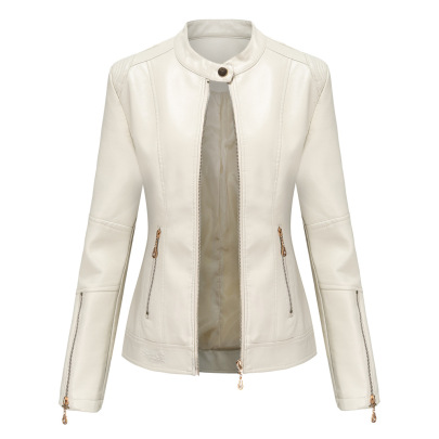 Wholesale Women's Clothing Nihaostyles PU Leather Short Stand Collar Jacket NSNXH67397