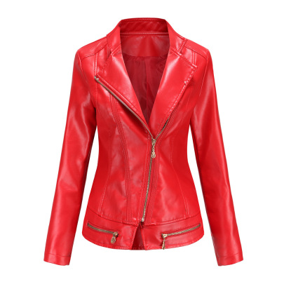 Wholesale Women's Clothing Nihaostyles Solid Color PU Leather Jacket NSNXH67406