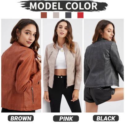 Wholesale Women's Clothing Nihaostyles Short Leather Jacket  NSNXH67407