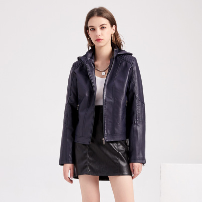 Wholesale Women's Clothing Nihaostyles Detachable Hooded Leather Jacket  NSNXH67420
