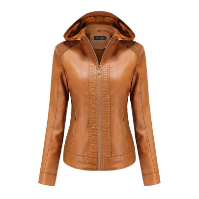 Wholesale Women's Clothing Nihaostyles Removable Hooded Leather Jacket  NSNXH67427