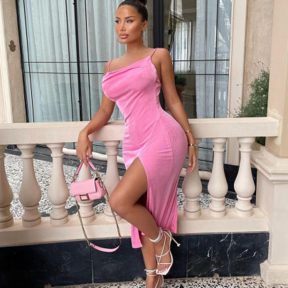 Fashion Slim Sling Split Dress Wholesale Women's Clothing Nihaostyles NSHTL67500