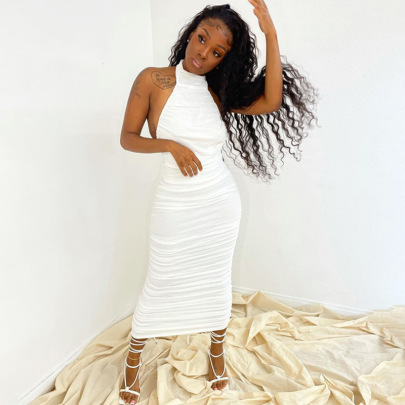 Fashion Slim Backless Lace-up Sleeveless Dress Wholesale Women's Clothing Nihaostyles NSHTL67503