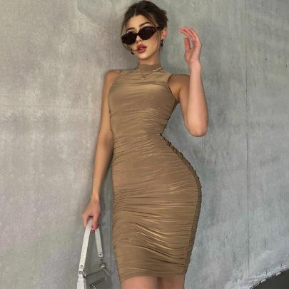 Round Neck Sleeveless Slim Dress Wholesale Women's Clothing Nihaostyles NSHTL67510
