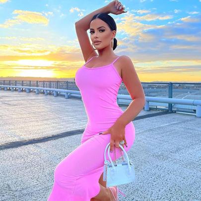 Nihaostyle Clothing Wholesale New Summer Fashion Sexy Strap Dress NSHTL67524