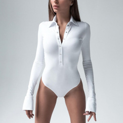 Nihaostyle Clothing Wholesale New Women's Sexy Long-sleeved Jumpsuit NSHTL67554