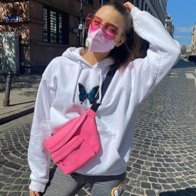 Wholesale Clothing Vendor Nihaostyles Butterfly Embroidery Loose Sweatshirt NSHTL67592