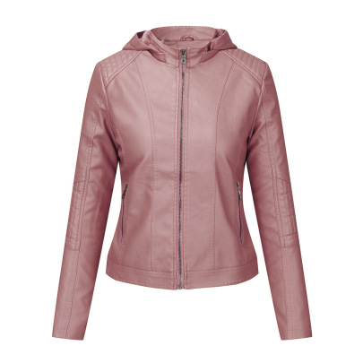 Wholesale Women's Clothing Nihaostyles Leather Hooded Autumn And Winter Short Jacket  NSNXH67424