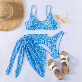New Refreshing Printed Three-piece Set Bikini Wholesale Women's Clothing Nihaostyles NSLUT67762
