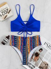 Bikini de playa dividido estampado ropa de mujer al por mayor Nihaostyles NSLUT67761