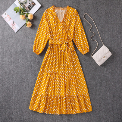 Fashion Polka Dot Print Big Swing Dress Wholesale Women's Clothing Nihaostyles NSXIA67760