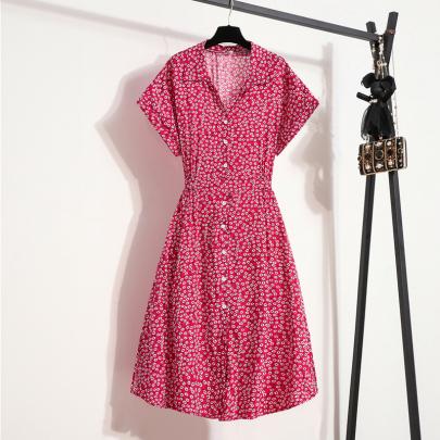 Fashion Printed Lace-up Dress Wholesale Women's Clothing Nihaostyles NSXIA67757