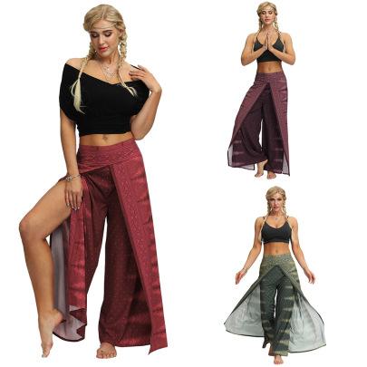 Printing High-waist Wide-leg Pants Nihaostyle Clothing Wholesale NSMDF67661