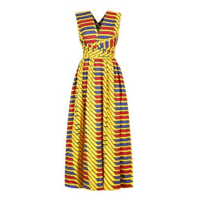 Printing Women's Split-end Dress Nihaostyle Clothing Wholesale NSMDF67667