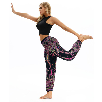 Printing Loose Sports Yoga Pants Nihaostyle Clothing Wholesale NSMDF67669