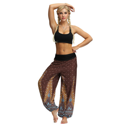 Printing Feather Fitness Yoga Casual Pants Nihaostyle Clothing Wholesale NSMDF67672