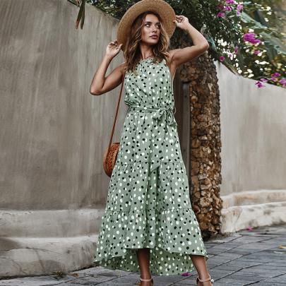 Polka Dot Print Suspenders Dress Wholesale Women's Clothing Nihaostyles NSXIA67752