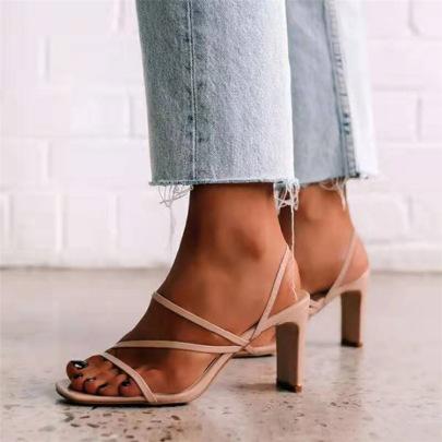 Square Toe Thick Heel Sandals Wholesale Women's Clothing Nihaostyles NSJJX67792