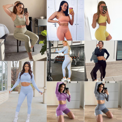 Seamless Fitness Top & Bottom Nihaostyle Clothing Wholesale NSSYZ67858